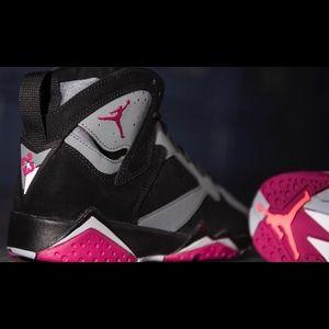 jordan shoes womans air jordan retro 7 in sport fuschia